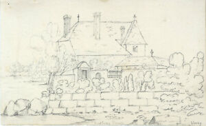 Set of Two Early 20th Century Graphite Drawings - Continental Scenes