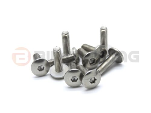 10x Yamaha stainless steel pan mushroom button head fairing bolts 90149-06302