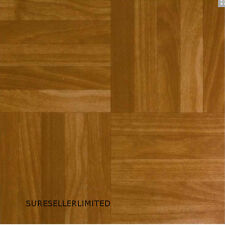 100 SQFT Vinyl Floor Tiles - Self Adhesive - Bathroom / Kitchen Flooring Wood SQ