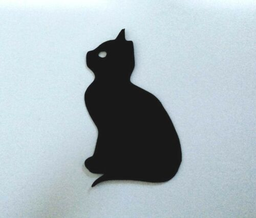 Cat Cats Kitten Gift Tag Tags Silhouette Die Cuts 6.3cm x 4cm Quality Black Card