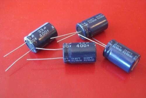 *** NEW *** Qty 10 33uF 33 uF 400v 85c Radial Electrolytic Capacitor