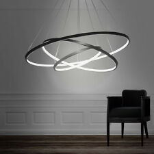 Us 90w led 3rings chandelier lighting fixture pendant ceiling 90w led 3rings chandelier lighting fixture pendant ceiling modern light black aloadofball Image collections