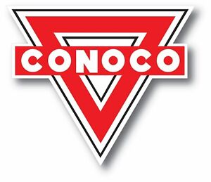 VINTAGE CONOCO OIL GAS GASOLINE SUPER HIGH GLOSS OUTDOOR 3.5 INCH DECAL STICKER