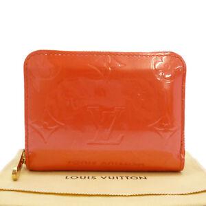 5fea107e2173 Auth LOUIS VUITTON Zippy Coin Purse Orange Sunset Vernis Leather ...