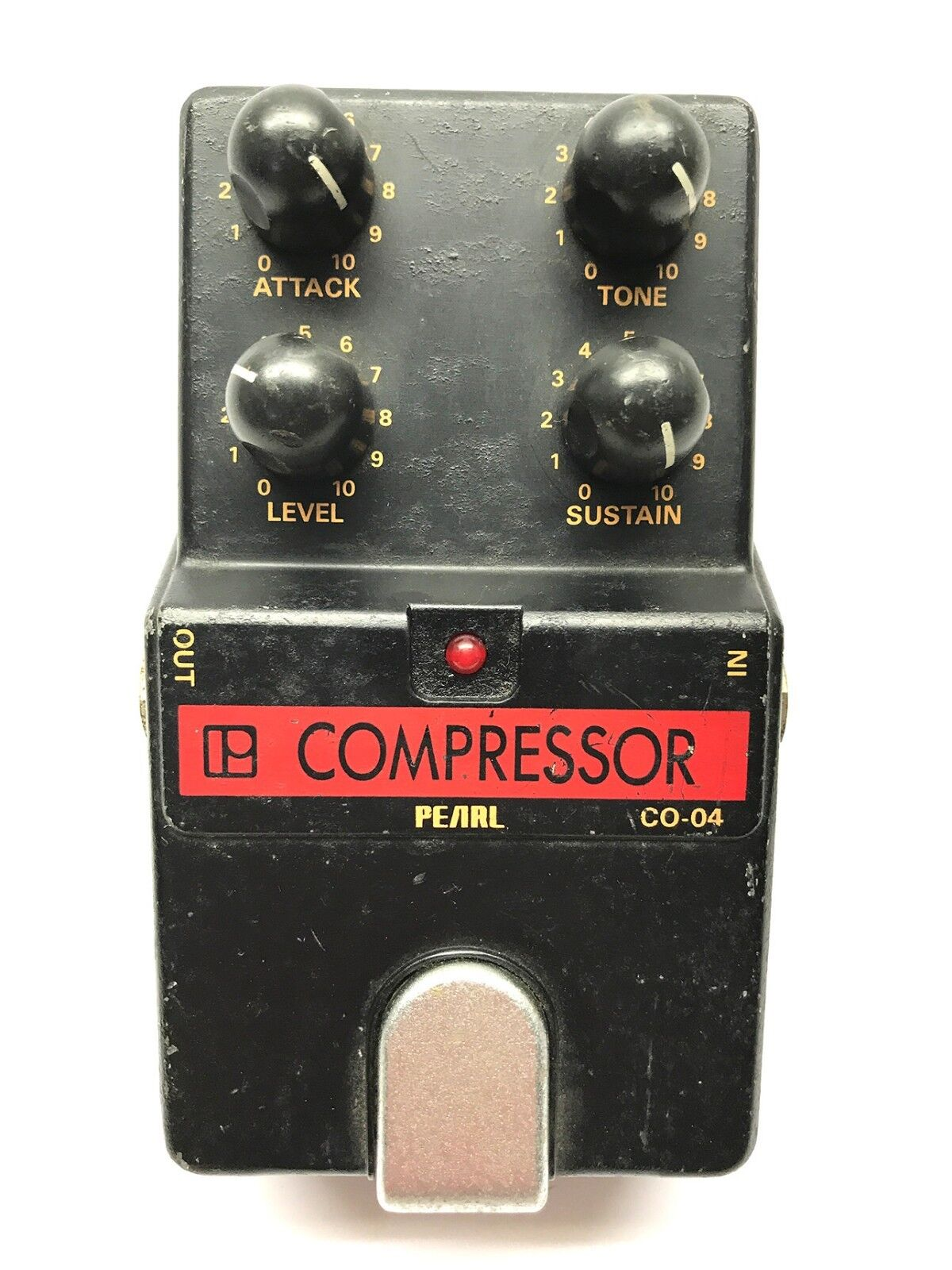 Pearl CO-04, Compressor, Made In Japan, 1980's, Vintage Guitar Effect Pedal