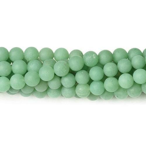 Aventurine Round Beads 8mm Green 40 Pcs Frosted  Gemstones DIY Jewellery Making