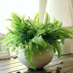 Best-Imitation-Fern-Plastic-Artificial-Grass-Leaf-Plant-Home-Wedding-Decor-LD