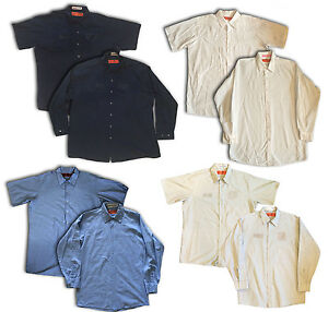 Red kap men 39 s specialized industrial pocketless mechanic for Red kap mechanic shirts
