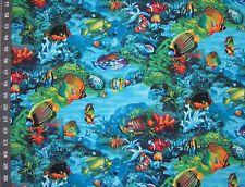 Paradise Found Tropical Fish  Coral Sea Life Ocean BY YARDS Elizabeth/'s Fabric