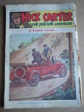 Nick Carter Il Grande poliziotto americano Anni 40 n°49 ed. NERBINI  [G369]