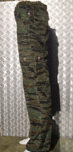 """NEW Cargo Trousers Size 28/""""-32/"""" Tiger Camouflage Military Style Combat"""