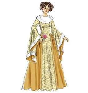 PATTERN-McCALLS-Misses-Princess-Dress-Queen-Gown-Costume-Sewing-6376-S-to-XL
