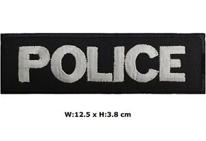 Police-12-5-x-3-8-cm-Patch-Embroidered-Iron-Sew-On-Badge-Officer-Fancy-Costume