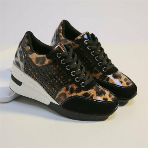 Athletic Trainers Women Platform Wedges Fashion Sneakers Breathable Ankle Boots