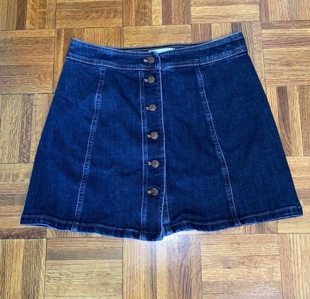Madewell Stretch Denim A-Line Mini Skirt: Button-… - image 5