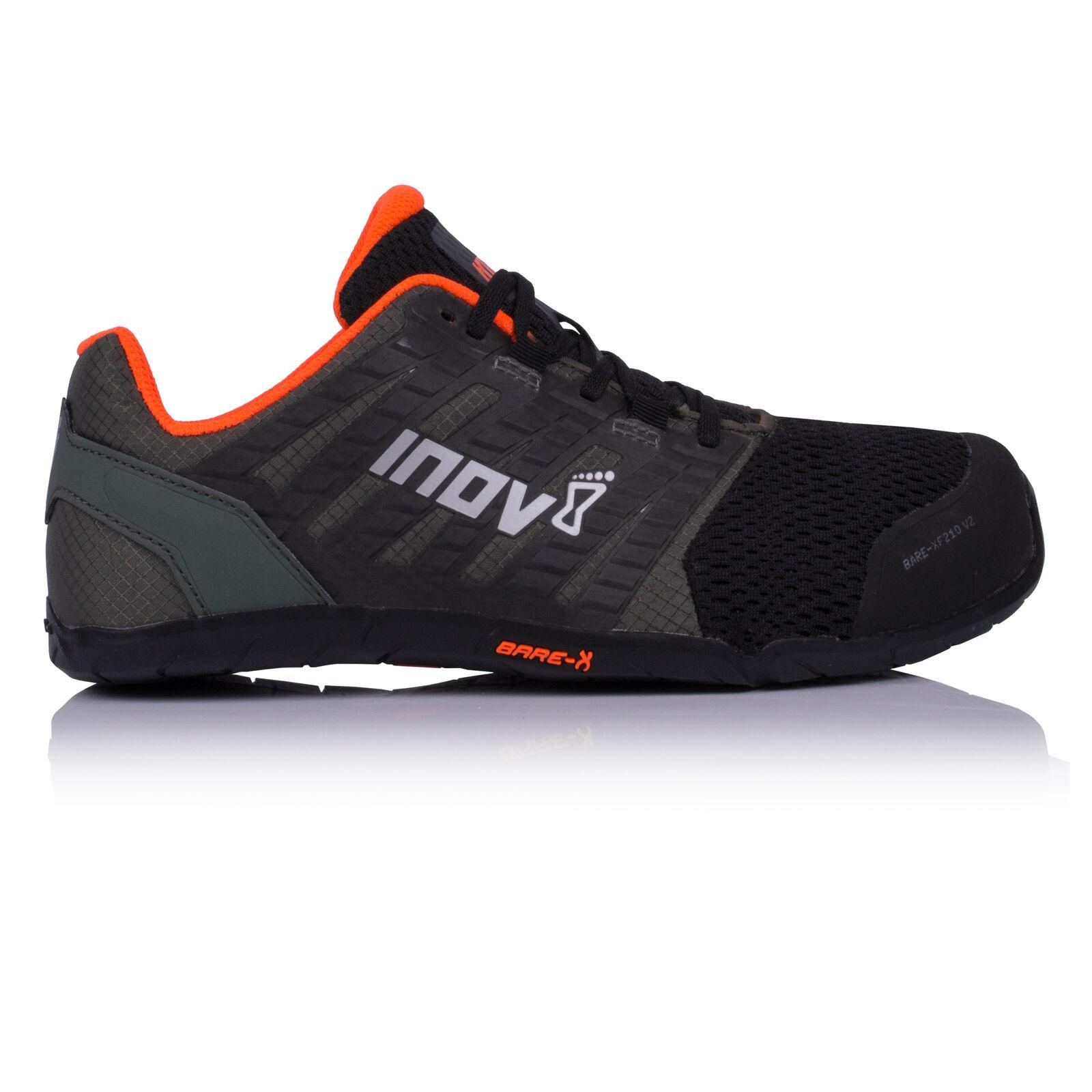 Inov8 Hommes Bare-Xf Baskets 210 V2 Gym Baskets Bare-Xf Chaussures De Sport Noir Vert Orange 70a44d