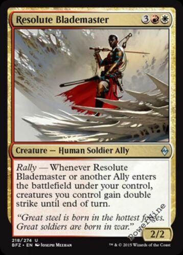 1 FOIL Resolute Blademaster Gold Battle for Zendikar Mtg Magic Uncommon 1x x1