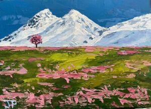 ORIGINAL Mountain Landscape Painting - Snow British Art Original Presale