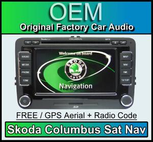 skoda columbus gps autoradio superb navigation radio rns. Black Bedroom Furniture Sets. Home Design Ideas