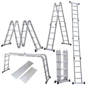15 5 ft 4 7m aluminum folding step extension platform. Black Bedroom Furniture Sets. Home Design Ideas