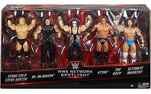 2016 WWE Network Spotljus Exklusiv 5-Pack Stone Cold, McMahon Rock Sting Warri