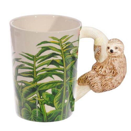 Tasse mit Faultier Griff Kaffeetasse Kaffeebecher Becher Teetasse