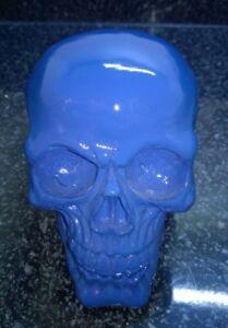 Halloween-Skull-Skeleton-head-Blue-Colour-Style-Ornament-Model-Resin