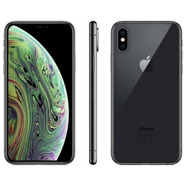 iPhone XS, 64 GB, sort