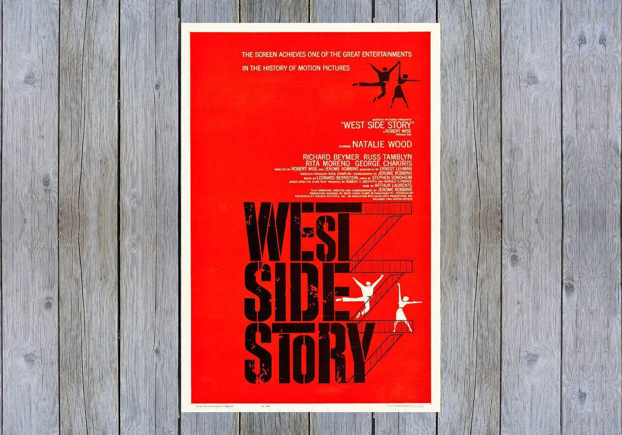 1961 WEST SIDE STORY VINTAGE DRAMA MOVIE POSTER PRINT STYLE A 24x16 9MIL PAPER