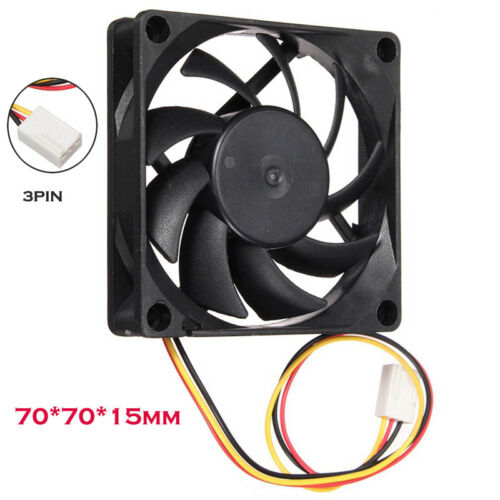 Silent Quiet 7cm//70mm//70x70x15mm 12V Computer//PC//CPU Silent Cooling Case Fan  US