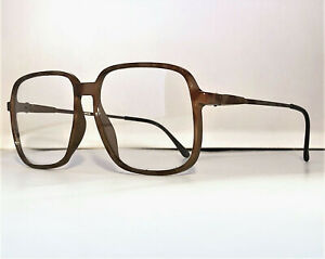 TRUE-VINTAGE-BELLE-QUALITE-ELAN-COFFEE-TORTOISE-EYEGLASS-FRAMES-NOS-KOREA-56mm