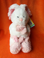 Tesco White Rabbit Soft Toy With Baby Pink Rabbit Easter Bunny & Baby 14 Tag