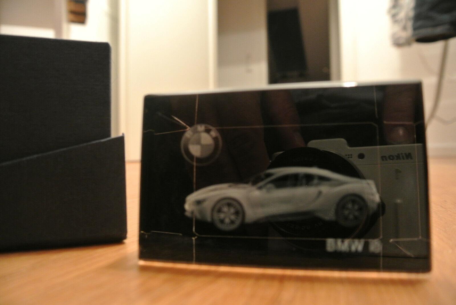Fantastico bel BMW i8 vetro modello, modello pubblicitari 8x5x5cm bbcrystal