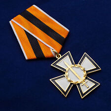 RUSSIAN COSSACKS MEDAL AWARD - CROSS FOR HONOR AND LOYALTY + DOC/ SALE LOW PRICE