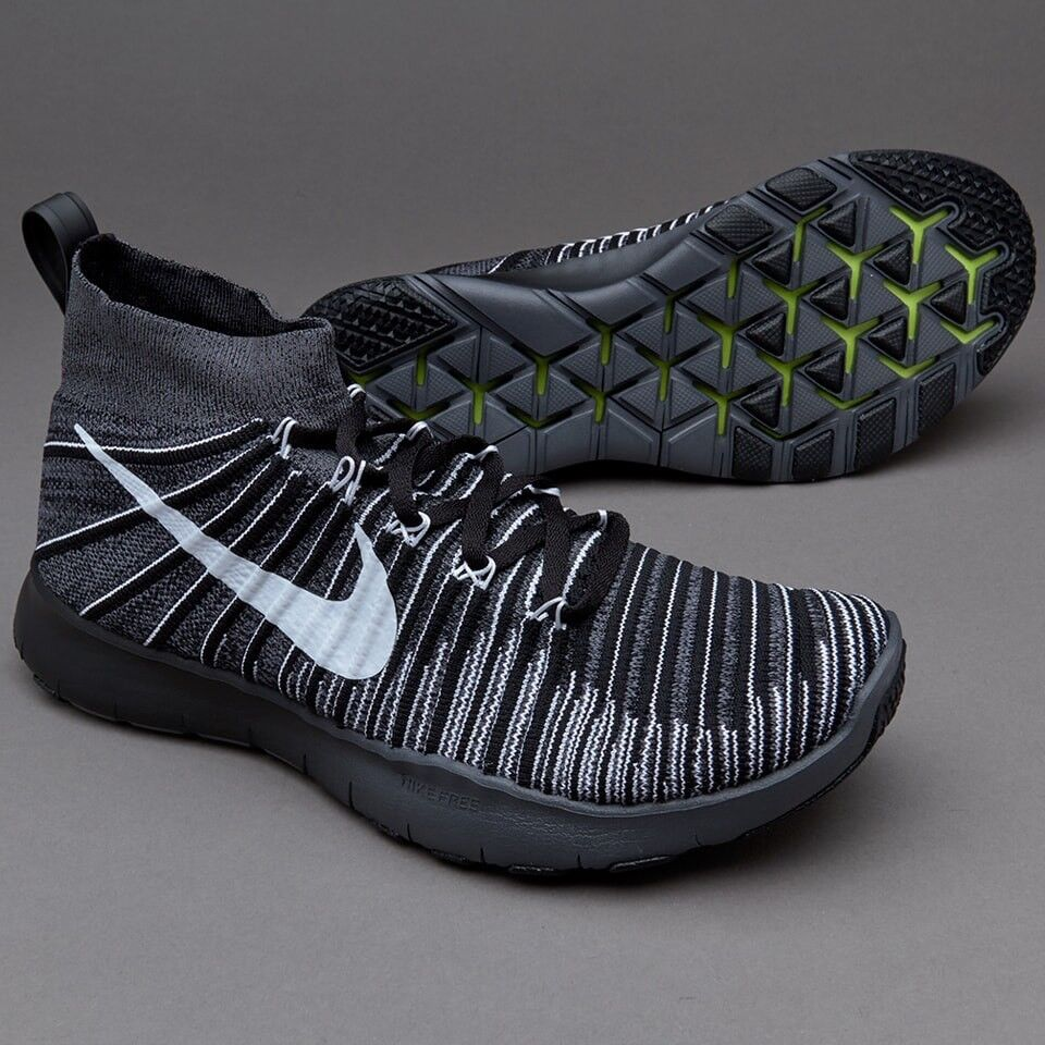 Nike Free Train Force Flyknit7.5 EU42  Dark Gris Noir blanc  EU42 Volt115.00 522901