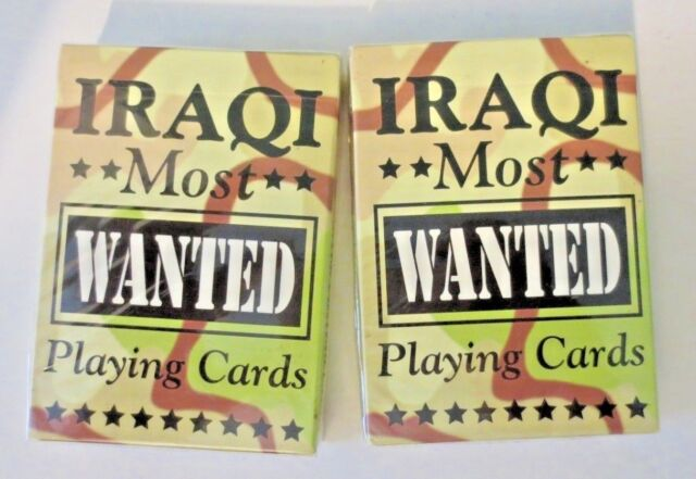 "NEW Sealed Set of 2 ""IRAQI MOST WANTED"" Bicycle Brand Playing Cards by HOYLE"