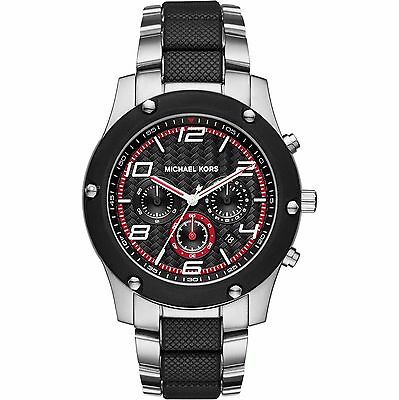 Michael Kors Caine Chronograph Watch Silver Black MK8474 Mens
