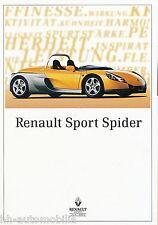 Renault Sport Spider Prospekt 4 96 brochure 1996 Auto PKW Autoprospekt Broschüre