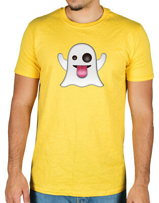 Ghost Emoji T-Shirt Icon Funny Novelty Android Apple Casper Boo Scary Snapchat