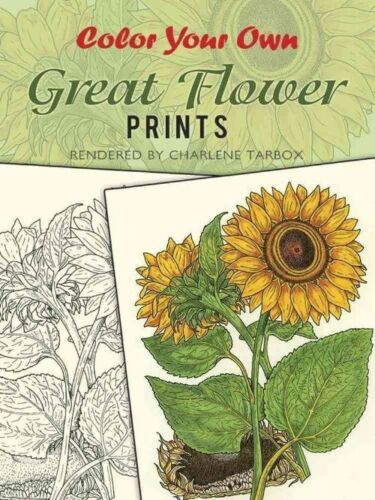 1 of 1 - Color Your Own Great Flower Prints (Dover Pictorial Archives)-ExLibrary