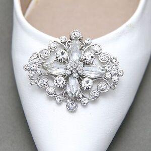 Diamante rhinestone wedding bridal sparkle vintage style shoe clips image is loading diamante rhinestone wedding bridal sparkle vintage style shoe junglespirit Image collections