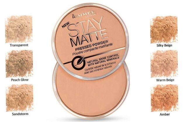 Rimmel Stay Matte Long Lasting Pressed Powder - All Shades