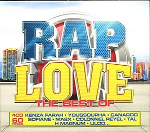 RAP-LOVE-THE-BEST-OF-4-CD-COMPILATION-NEUF-ET-SOUS-CELLO
