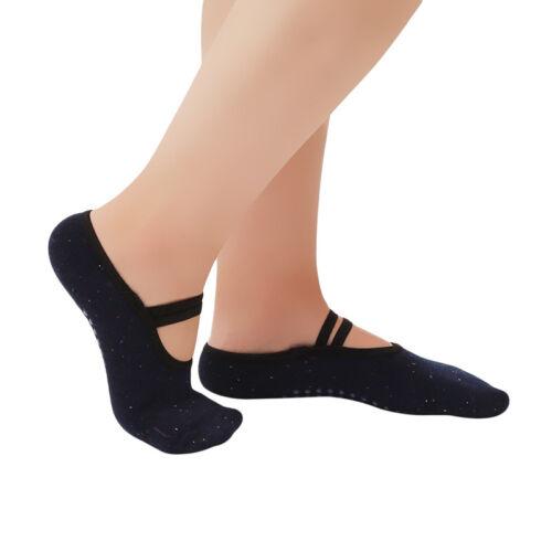 Women Yoga Girls Non Slip Skid with Grips Sole Dot Sports Pilates Socks Shan