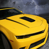 2014 2015 Chevy Camaro Hood Cowl Side Spears Accent Stripes Decals Blackout 2016