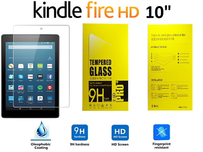 ab97f5fa0a1cf7 100% Genuine Tempered Glass Screen Protector For AMAZON KINDLE FIRE HD 10.1