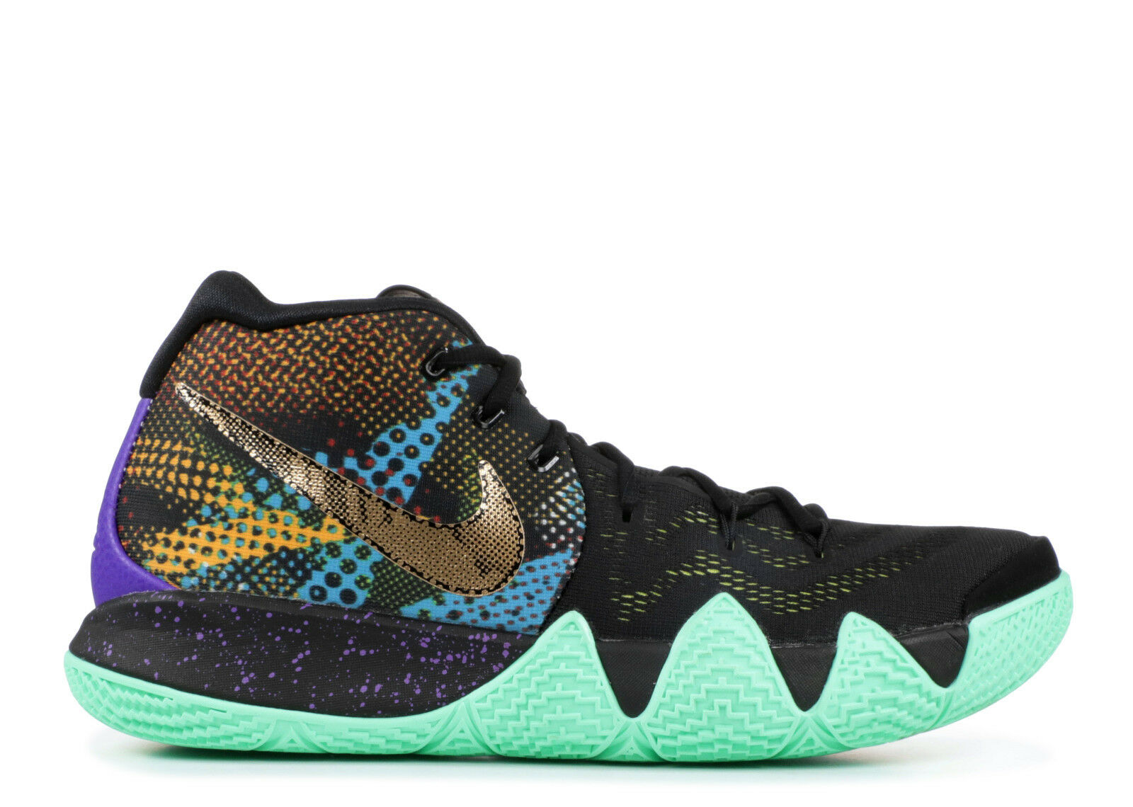 Nike Kyrie 4 MAMBA Mentality Black Mint Green GOLD MultiCOLOR WTK Men's 13 Shoes