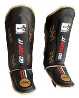 Kids leg Shin and instep pads Karate Muay Thai MMA UFC Leg pads rex leather