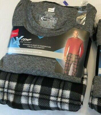 Sleepwear & Robes Reasonable Nwt Men's Hanes Xtemp X-temp L/s Thermal Waffle Top Fleece Pant Set Pajamas Pjs Agreeable Sweetness