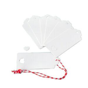 DIY 50//100pcs Blank Kraft Paper Hang Tags Wedding Party Favor Label Gift Card